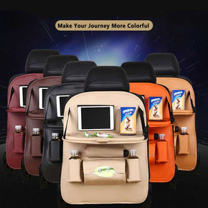 M Multi-functional Leather Car Seat Back Storage Bag -Cash On Delivery - Yinaje