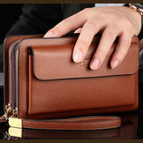 M Explosion PU Double Zipper Men's Business Bag-Cash On delivery - Yinaje