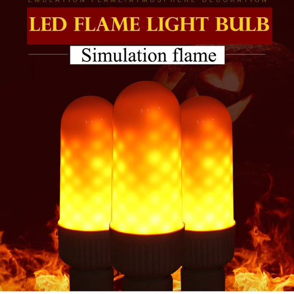 M 【Buy 1 free 1】2018 Very Popular Lamp LED Simulaion Dynamic Flame Light Bulb【Cash on delivery】 - Yinaje