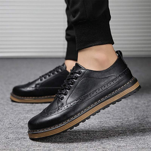 E 2018 British fashion breathable brogues【Cash On Delivery】 - Yinaje