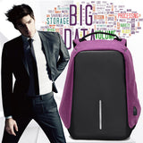 M Men Anti-Thief Backpack Women Waterproof USB External Laptop Backpack Travel Bag【Cash on delivery】 - Yinaje