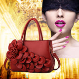 M 2018 Luxury Flower PU Leather Handbag--CASH ON DELIVERY - Yinaje