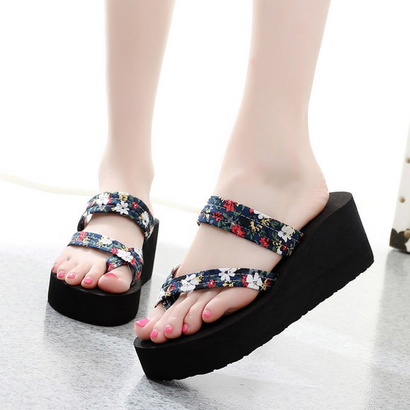 【Buy 1 free 1】M 2019 New Fashion Flower Flip-flops【Cash On Delivery】 - Yinaje