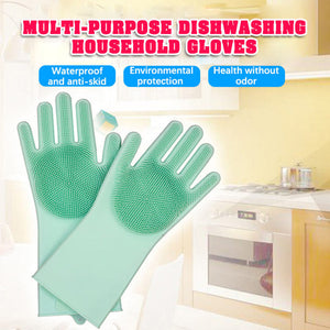 M【Buy 1 Free 2】Silicone Cleaning Gloves (3 pairs)【Cash On Delivery】 - Yinaje