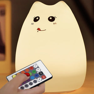 E Cat Silicone Night Light (Colorful Pat Lamp)【cash on delivery】 - Yinaje