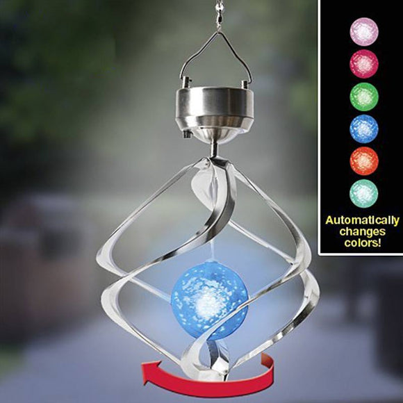E European and American smart solar wind chime lights (cash on delivery) - Yinaje