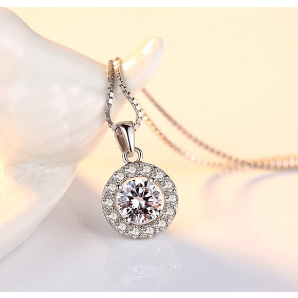 M S925 Pure Silver Diamond Zircon Necklace【Cash on delivery】 - Yinaje