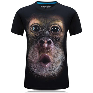 M 3D Orangutan T-shirt【Cash on delivery】 - Yinaje