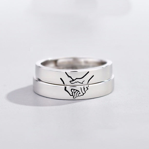 T Hold your hand couple ring(COD) - Yinaje