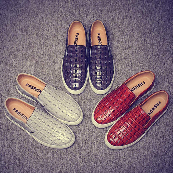 E 2018 fashion trend crocodile breathable shoes【Cash on delivery】 - Yinaje