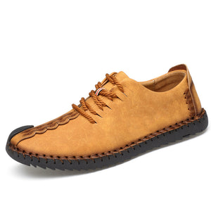 M [Hot sale] genuine leather shoes Non-slip rubber sole - Yinaje
