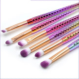 N Six small Mermaid tail cosmetic brush suits【Cash On Delivery】 - Yinaje