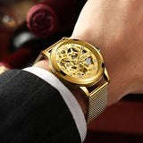E Automatic men's hollow waterproof mechanical watch【Cash On Delivery】 - Yinaje
