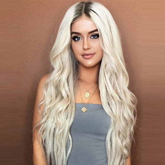 M Fashionable Charming Dyeing Gradient Long Curly Wavy Wig【Cash on delivery】 - Yinaje