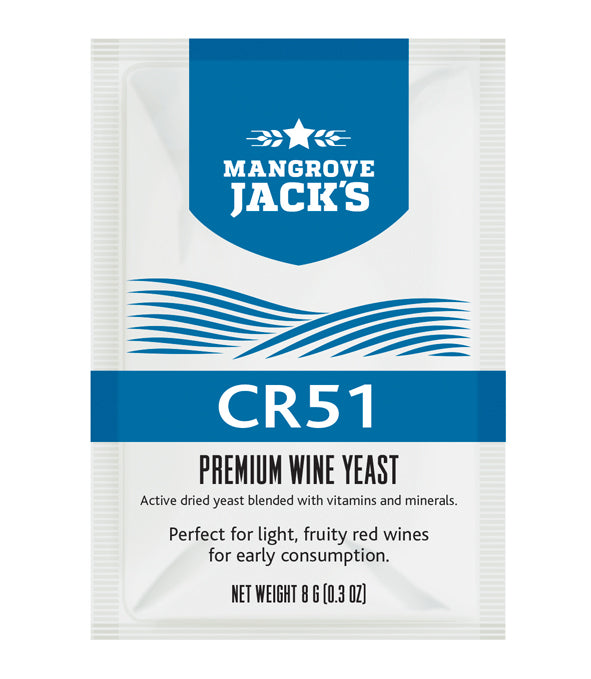 CR51 Red Wine Yeast (8g)