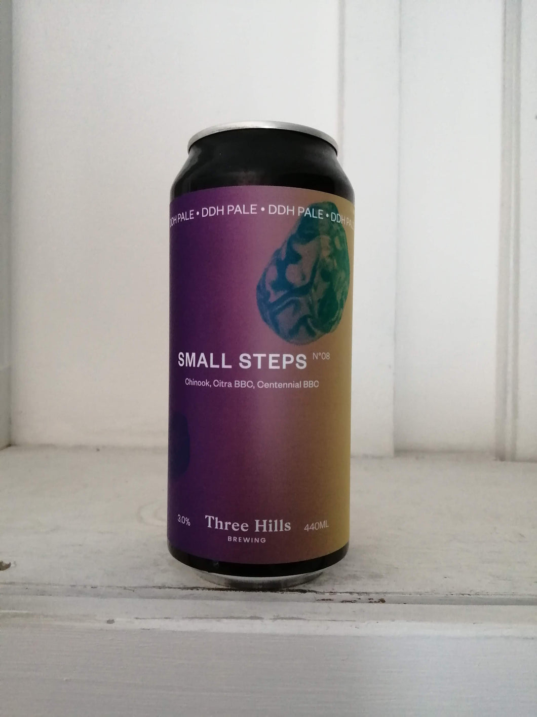 Three Hills Small Steps No8 3% (440ml can)