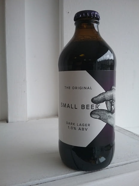 Small Beer Dark Lager 1% (350ml bottle)