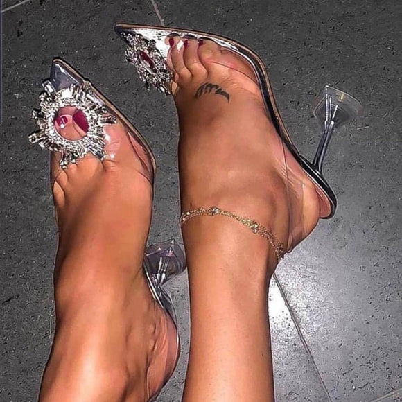 Transparent High Heels Pointed