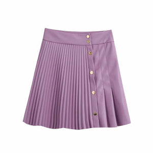 pleated skirt Asymmetrical