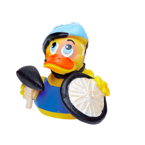 PATO CICLISTA ACCIDENTADO LÁTEX