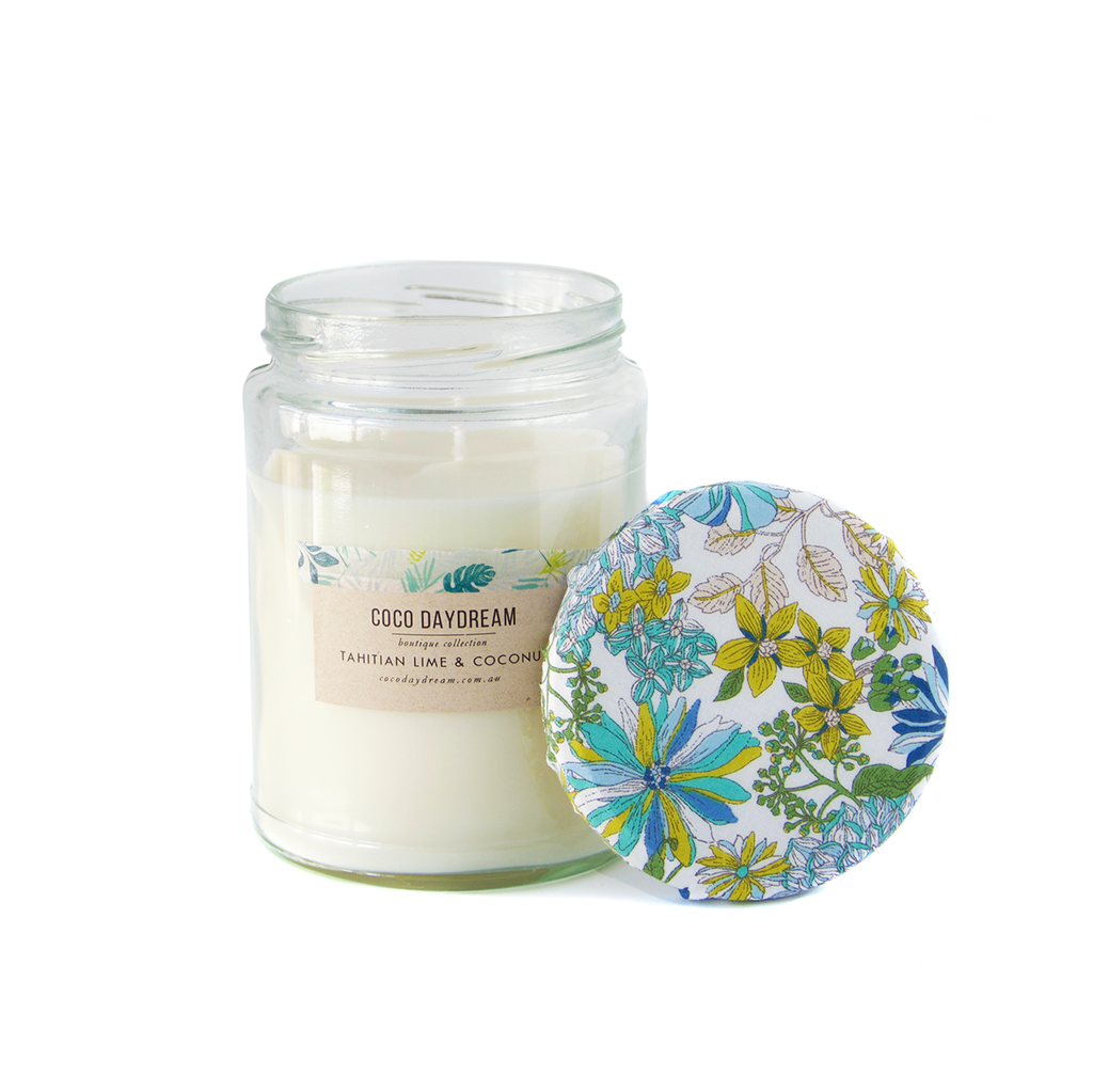 Boutique Candle - Tahitian Lime + Coconut