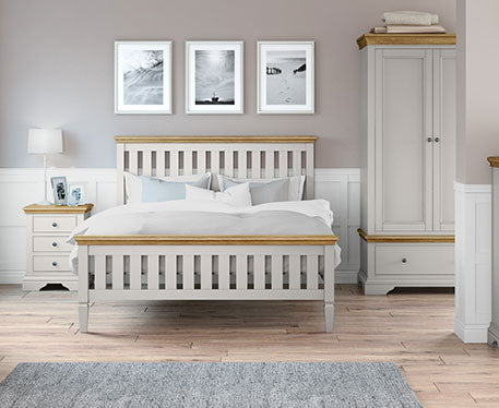 Paris Grey Painted & Oak Top Bedroom Range