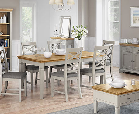 Paris Dining And Occasional Grey Painted & Oak Range
