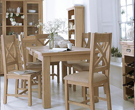 Santino Natural Oak Bedroom,Dining & Occasional Range