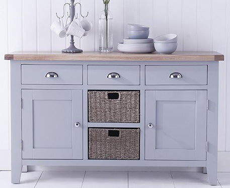 Seville Grey Painted With Oak Tops Dining & Occasional Range