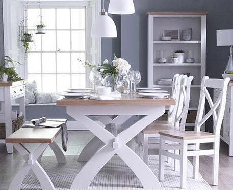 Seville White Painted & Oak Top Dining & Occasional Range
