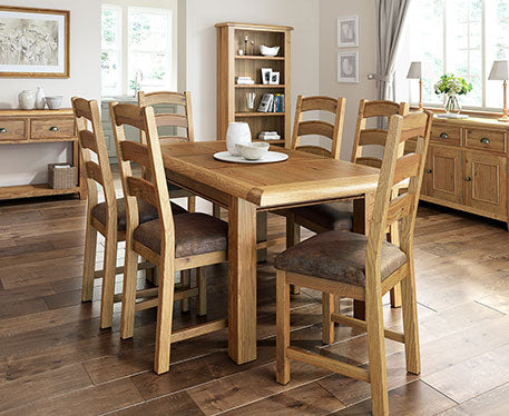 Trafalgar Oak Bedroom and Dining Range