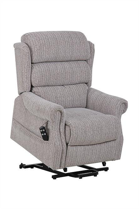 Lancashire Dual Motor Rise & Recliner Armchair In Wheat Fabric