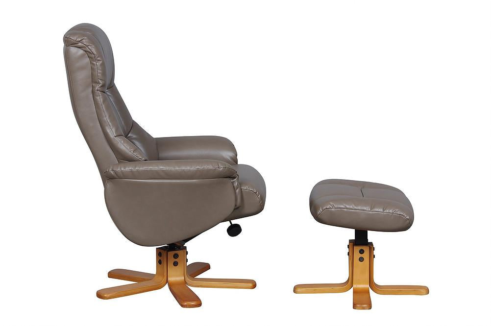 Barcelona Reclining Chair in Truffle Leather