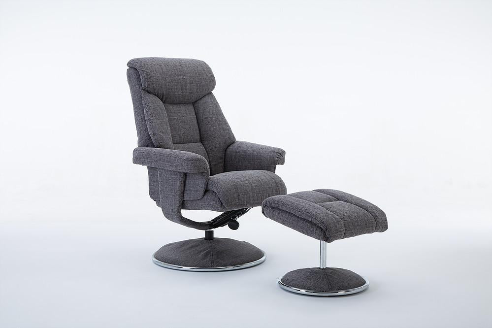 Strange Bergerac Recliner Chair In Lisbon Grey Fabric Machost Co Dining Chair Design Ideas Machostcouk
