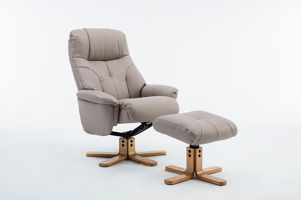 Brittany Recliner Chair in Plush Pebble Leather
