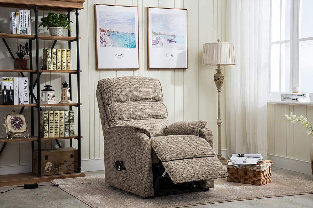 Althorn Riser & Recliner Chair In Mocha Fabric