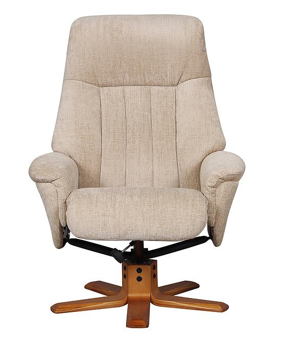 Almeria Reclining Chair In Sandstone Fabric