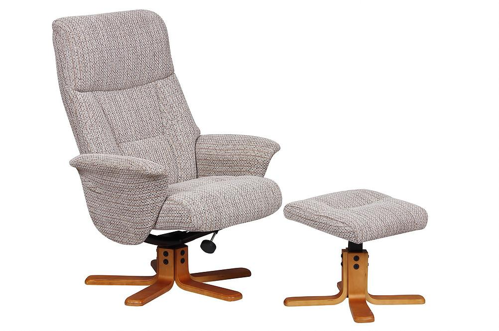 Monte Carlo Reclining Chair In Wheat Fabric