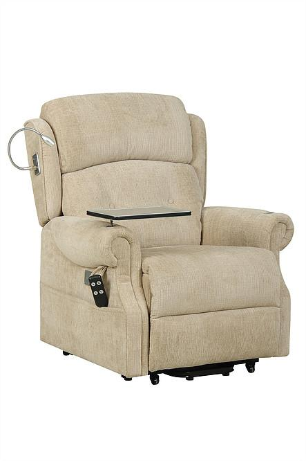 The Ultimate Rise & Recline In Sandstone Fabric  Dual Motor