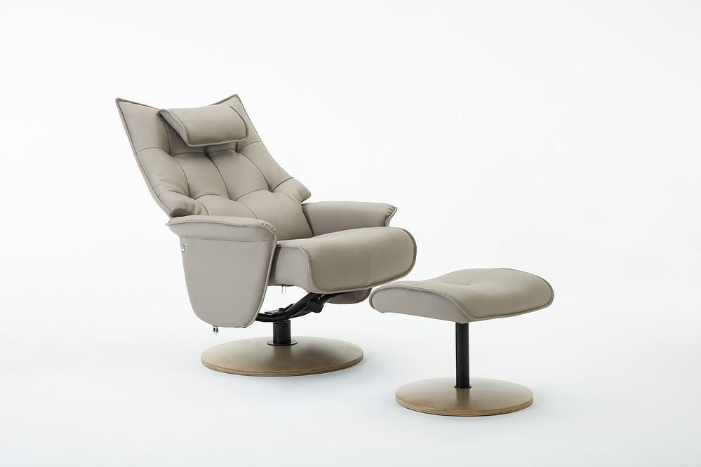Abbey Reclining Chair in Pebble Faux Leather