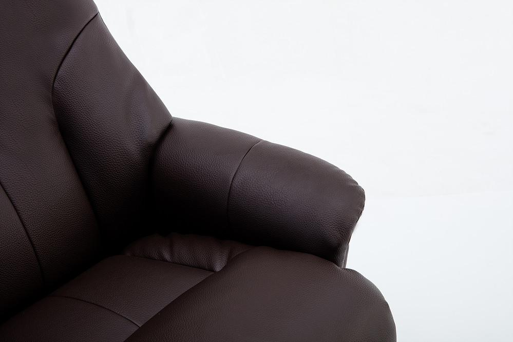Brittany Reclining Chair In Plush Brown