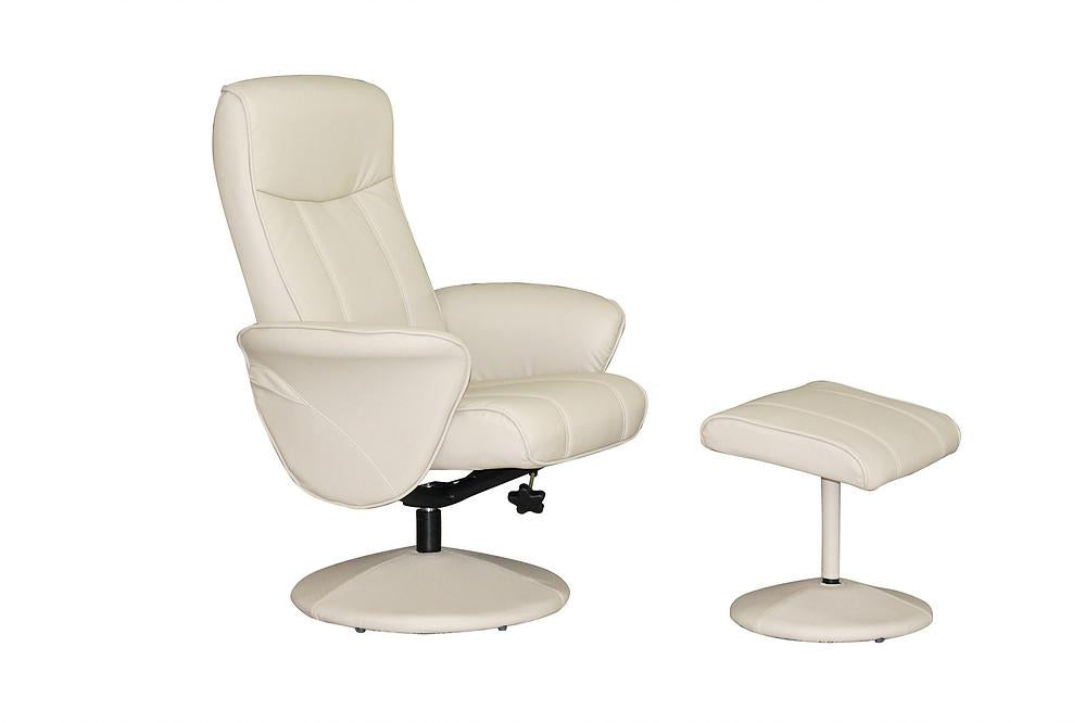 Sierra Reclining Chair in Cafe Latte Faux Leather