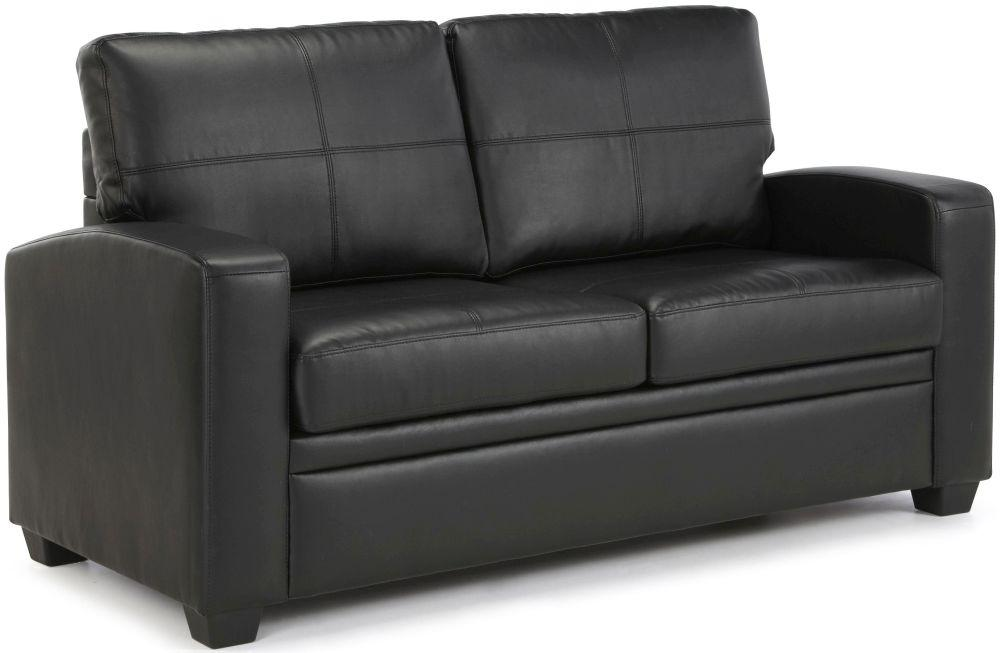 Turin Black Faux Leather Sofa Bed