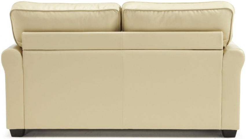 Naples Cream Faux Leather Sofa Bed