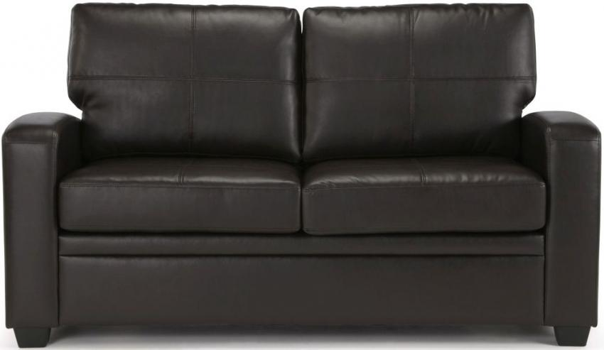 Turin Brown Faux Leather Sofa Bed