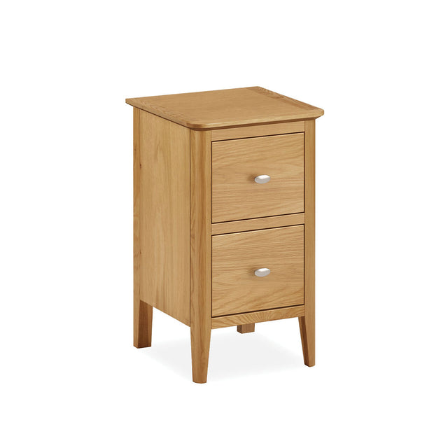 Bath Oak Two Drawer Bedside Chest