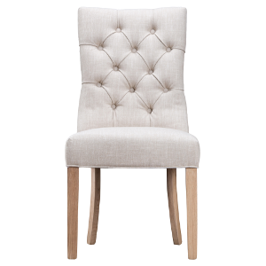 Dijon Beige Button Back Dining Chair