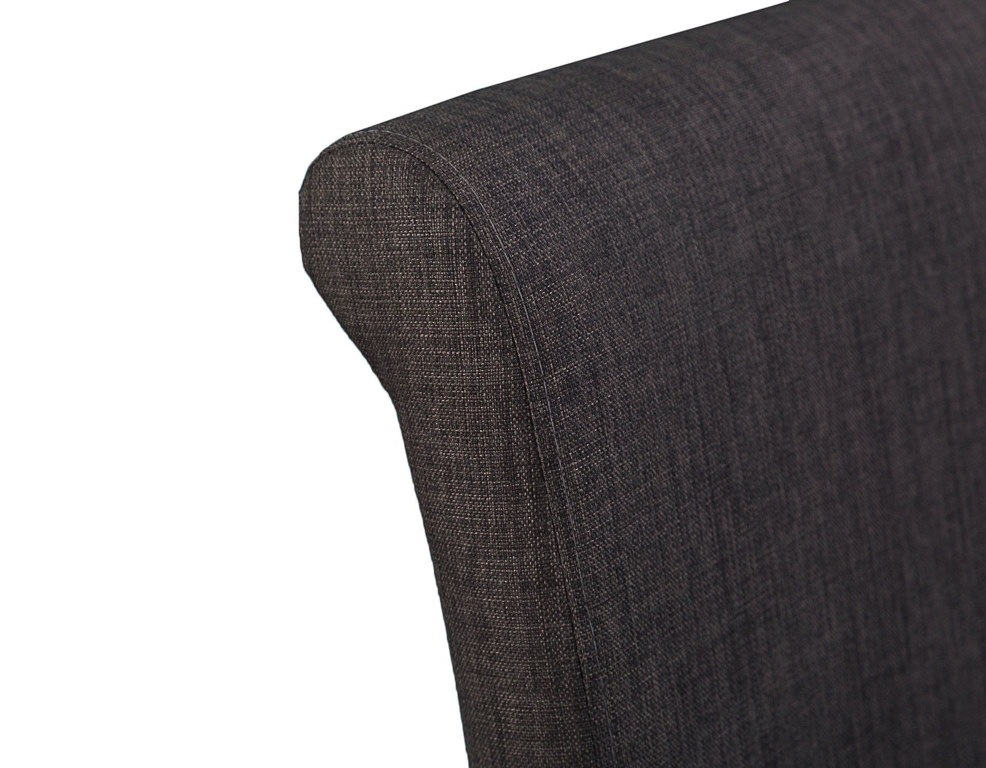 Luxury Chair Scroll Back Charcoal