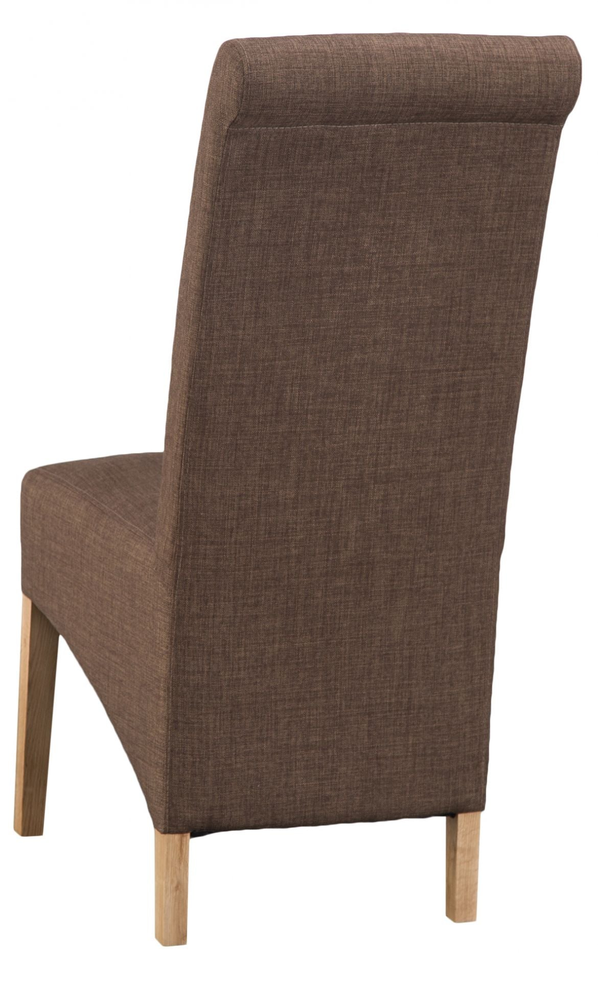 Luxury Chair Scroll Back Cinnamon
