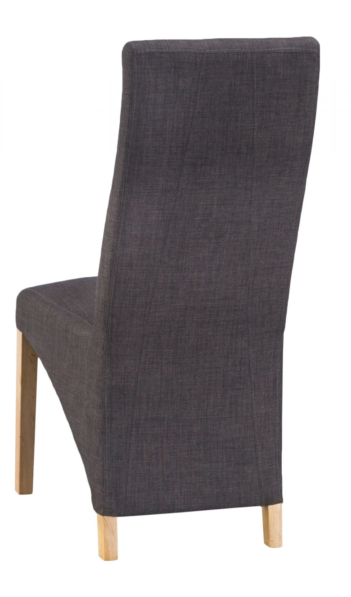 Luxury Chair Straight Back Charcoal